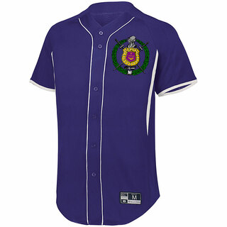 Omega Psi Phi Game 7 Full-Button Baseball Jersey