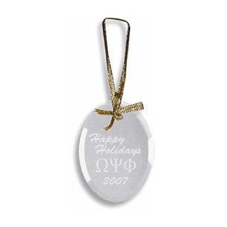 Omega Psi Phi Glass Ornament