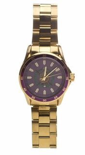 Omega Psi Phi Steel Watch w/ Shield