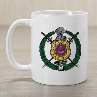 Omega Psi Phi Greek Crest Coffee Mug