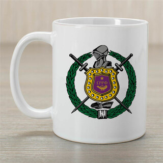 Omega Psi Phi Greek Crest Coffee Mug