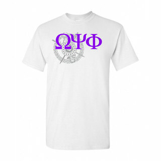 Omega Psi Phi Greek Crest - Shield T-Shirt