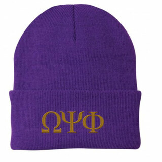 Omega Psi Phi Greek Letter Knit Cap