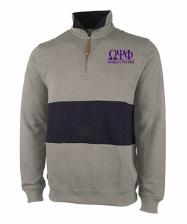Omega Psi Phi Greek Letter Quad Pullover