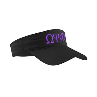 Omega Psi Phi Greek Letter Visor