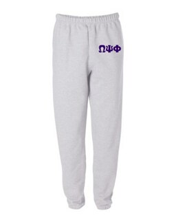Omega Psi Phi Greek Lettered Thigh Sweatpants