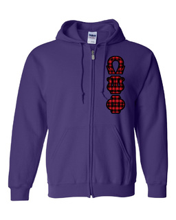 "Omega Psi Phi Heavy Full-Zip Hooded Sweatshirt - 3"" Letters!"