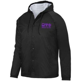 Omega Psi Phi Hooded Coach's Jacket