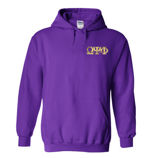 DISCOUNT-Omega Psi Phi Hoody - Signature Letters