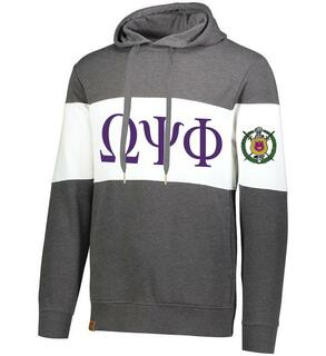 Omega Psi Phi Ivy League Hoodie W Crest On Left Sleeve