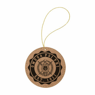 Omega Psi Phi Leatherette Crest Holiday Ornament