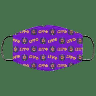 Omega Psi Phi Letter Crest Face Masks