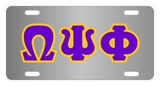 Omega Psi Phi Lettered License Cover