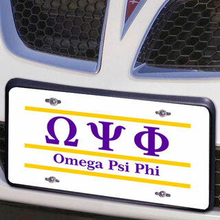 Omega Psi Phi Lettered Lines License Cover