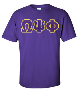 Omega Psi Phi Lettered T-Shirt