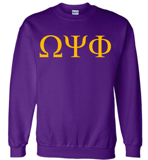 Omega Psi Phi Lettered World Famous $19.95 Greek Crewneck