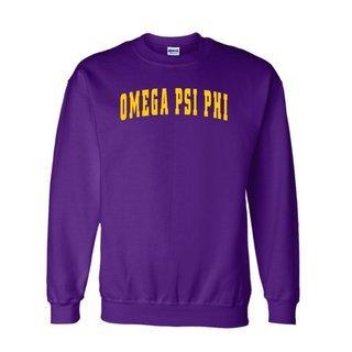 Omega Psi Phi Letterman  Crewneck Sweatshirts