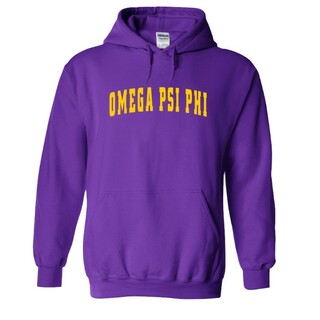 Omega Psi Phi Letterman  Hooded Sweatshirts