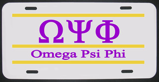Omega Psi Phi License Plate