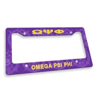 Omega Psi Phi Custom License Plate Frame