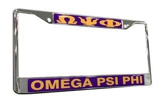 Omega Psi Phi License Plate Frame