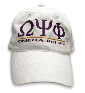 Omega Psi Phi Line Cap - FREE GROUND SHIPPING