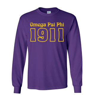 Omega Psi Phi Logo Long Sleeve Tee