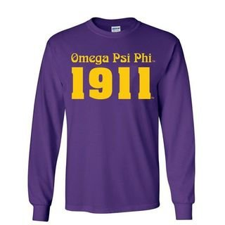 Omega Psi Phi Logo Long Sleeve Tee