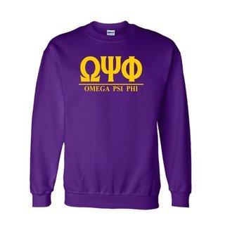 Omega Psi Phi Message  Crewneck Sweatshirts