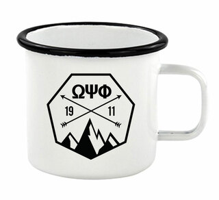 Omega Psi Phi Metal Camping Mug