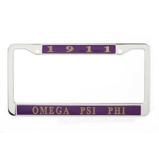 Omega Psi Phi Metal License Plate Frame