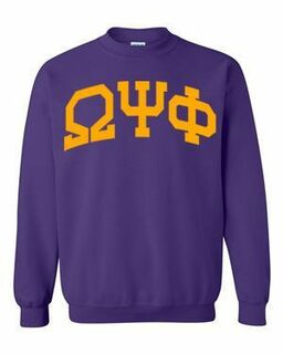 Omega Psi Phi Greek Lettered Arch Crewneck Sweatshirt