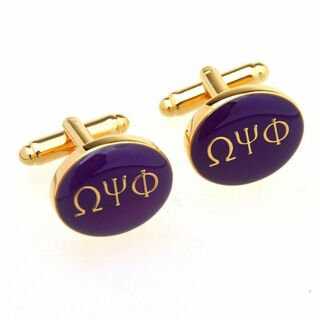 Omega Psi Phi Oval Cufflinks