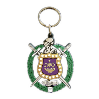 Omega Psi Phi Rubber Crest Key Chain