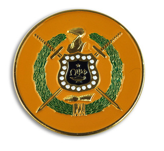 Omega Psi Phi Round Car Badges