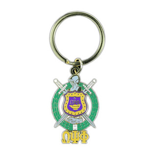 Omega Psi Phi Shield Key Chain