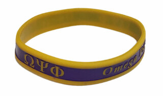 Omega Psi Phi Silicone Bracelet