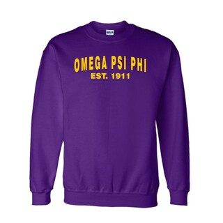 Omega Psi Phi Since  Crewneck Sweatshirts