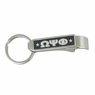Omega Psi Phi Stainless Steel Bottle Opener Key Chain