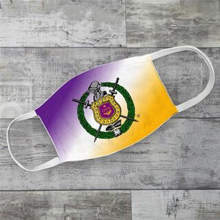 Omega Psi Phi Super Crest Face Masks