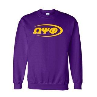 Omega Psi Phi Swoosh  Crewneck Sweatshirts