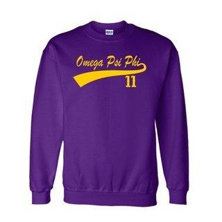 Omega Psi Phi Tail  Crewneck Sweatshirts