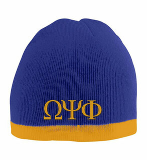 Omega Psi Phi Two Tone Knit Beanie