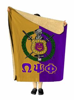 Omega Psi Phi Two Tone Two Tone Sherpa Lap Blanket