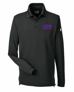 Omega Psi Phi Under Armour�  Men's Performance Long Sleeve Fraternity Polo