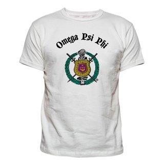 Omega Psi Phi Vintage Crest - Shield T-shirt