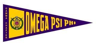 Omega Psi Phi Wall Pennants