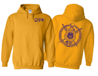 Omega Psi Phi World Famous Crest - Shield Hooded Sweatshirt- $35!