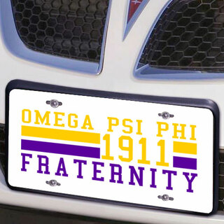 Omega Psi Phi Year License Plate Cover