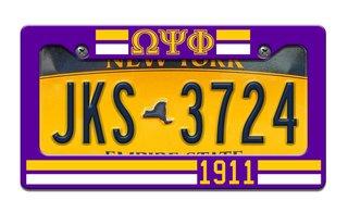 Omega Psi Phi Year License Plate Frame